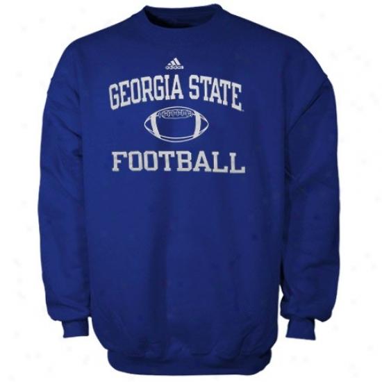 Georgia State Panthers Hoodies : Adidas Georgia State Panthers Royal Blue Collegiate Crew Hoodies