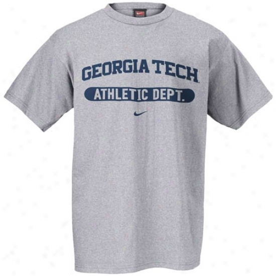 Georgia Tech Tee : Nike Georgia Tech Golden Jackets Ash Athletic Department Tee