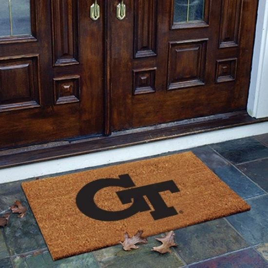 Georgia Tech Yellow Jacets Flocked Coir Door Mat