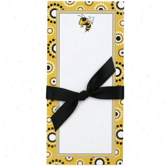 Georgia Tech Yellow Jackets Magnetic Notepad
