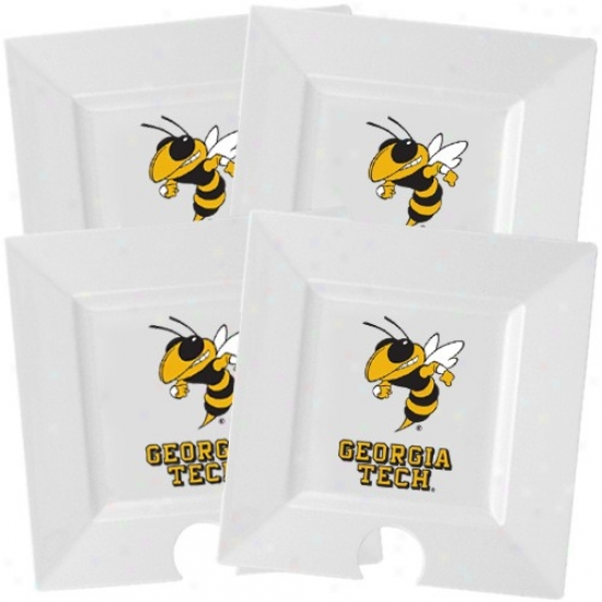Georgia Tech Golden Jackets White 4-pack Party Plates