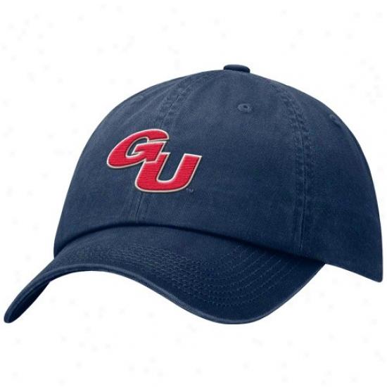 Gonzaga Bulldogs Cap : Nike Gonzaga Bulldogs Navy Blue Faded Swoosh Flex Cap