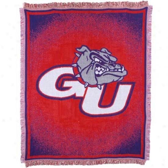 Gonzaga Bulldogs Red 48'' X 60'' Focus Jacquard Woven Blanket Throw