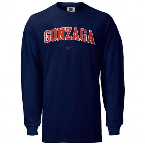 Gonzaga Bulldogs Tshirt : Nike Gonzaga Bulldogs Navy Blue Youth Classic College Long Sleeve Tshirt