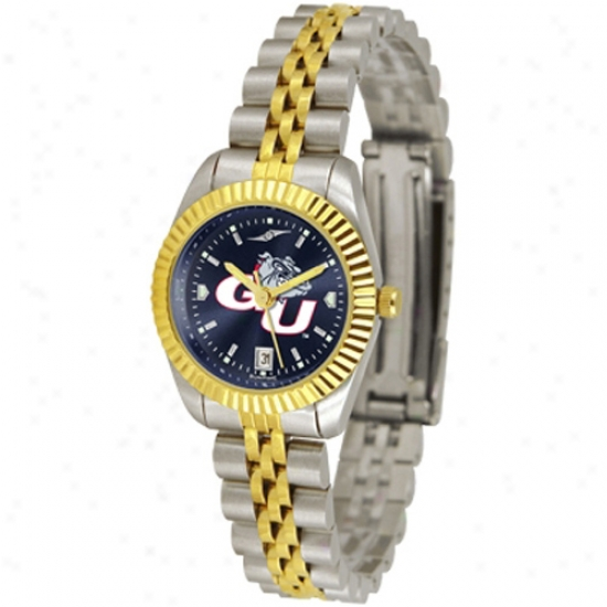 Gonzaga Bulldogs Waych : Gonzaga Bulldogs Ladies Executive Anochrome Watch