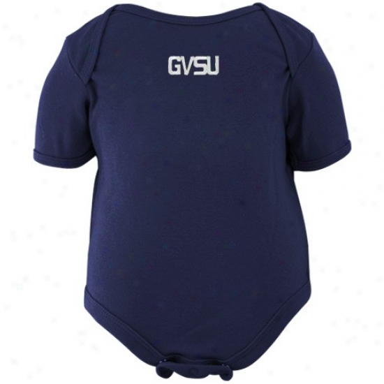 Grand Valley Commonwealth Lakers Infant Navy Blue Embroidere dWordmark Creeper