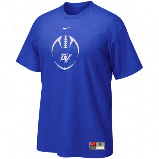 Grand Valley State Lakers Tshirts : Nike Grand Valley State Lakers Royal Blue 2010 Team Issue Tshirts