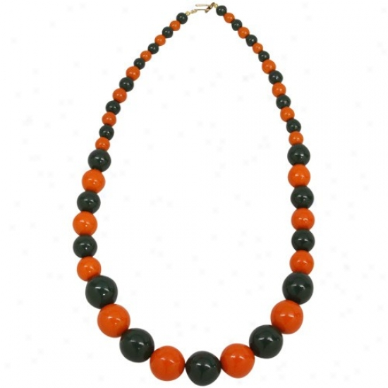 Green-orange Ascending Wooden Deck with ~s Necklace