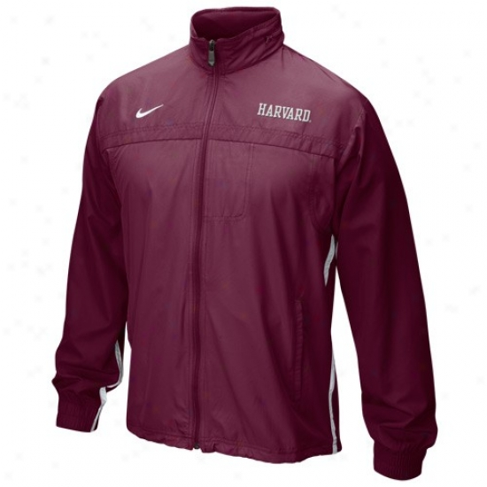 Harvard Crimson Jackets : Nike Harvard Crimson Crimson 5th Year Windbreaker Jackets