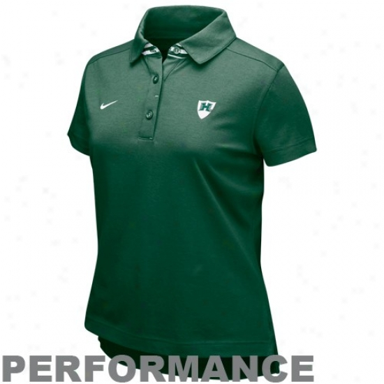 Hawaii Warriors Clothing: Nike Hawaii Warriors Ladies Green As If Performance Polo