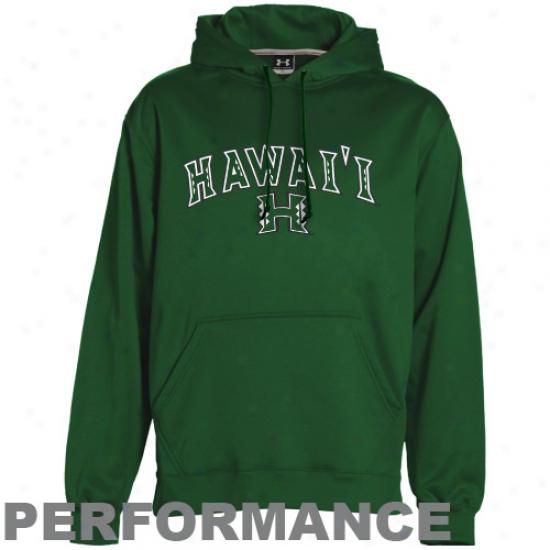 Hawaii Warriors Hoodie : Under Armour Hawaii Warriors Ladies Verdant Performance Hoodie Pullover Hoodie
