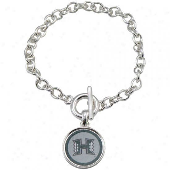 Hawaii Warriors Team Logo Charm Toggle Bracelet