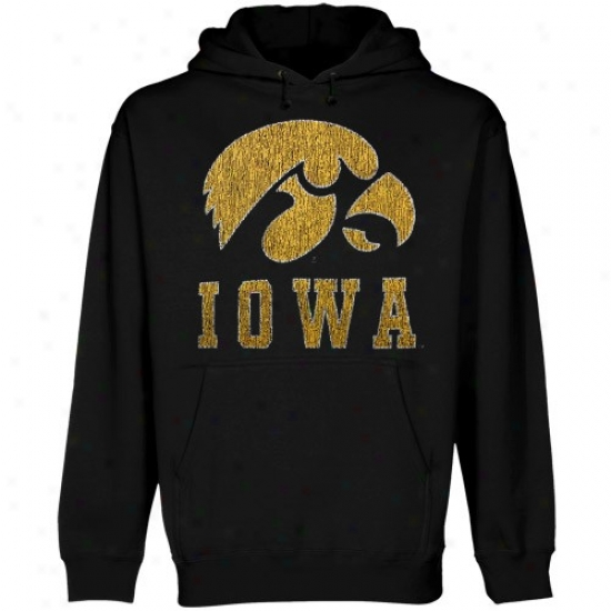 Hawkeyes Sweat Shirt : Hawkeyes Black Blitz Sweat Shirt