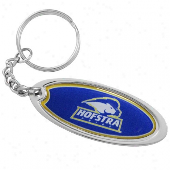 Hofstra Pride Domed Oval Keychain