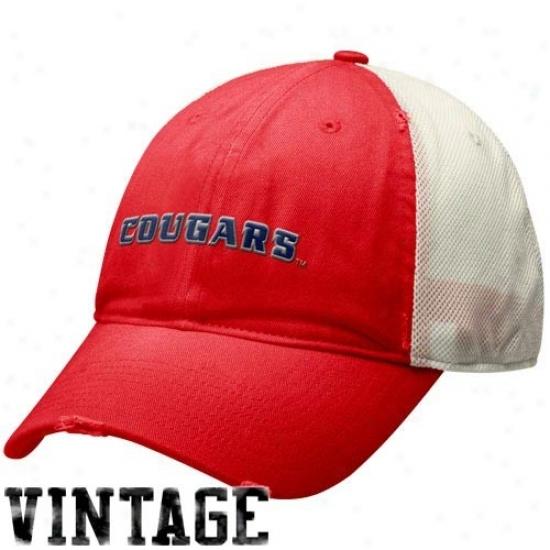 Houston Cougars Hat : Nike Houston Cougars Red Inheritance 86 Ensnare Swoosh Flex Hat