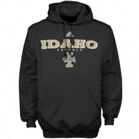 Idaho Vandals Hoody : Adidas Idaho Vandals Black True Basic Hoody