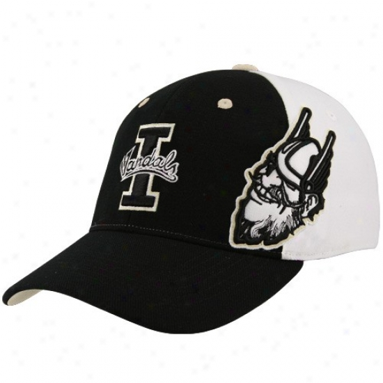 Idaho Vandals Merchandise: Top Of The World Idaho Vandals Black-white X-ray Flex Fit Hat