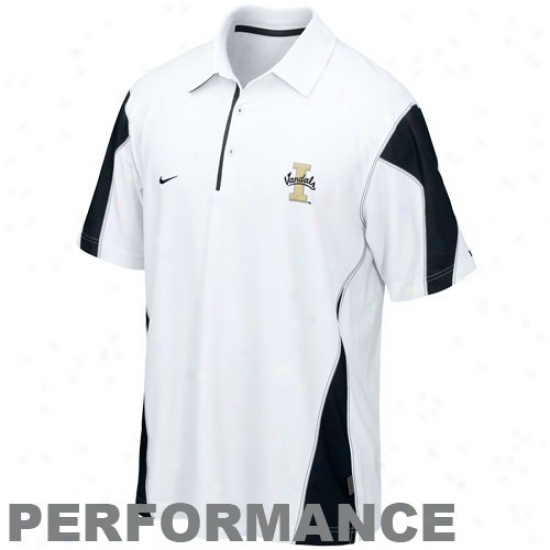 Idaho Vandals Polos : Nike Idaho Vandals White 2010 Checmdoen Coaches Sideline Performance Polos