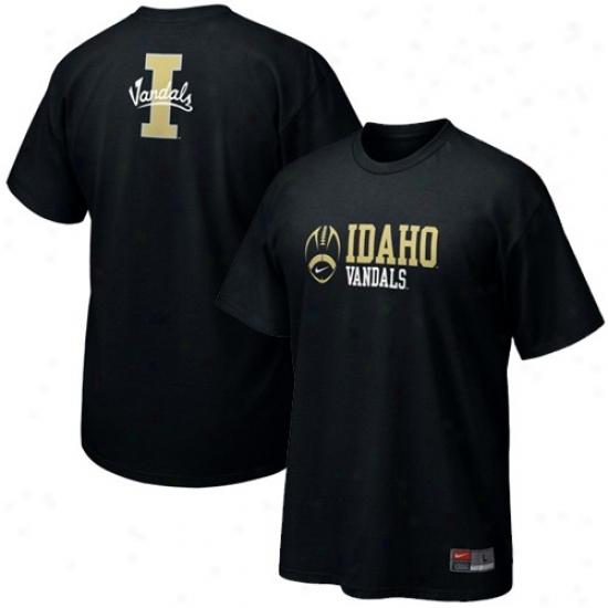 Idaho Vandals Shirts : Nike Idaho Vandals Black Practice Shirts