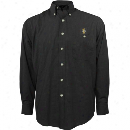 Idaho Vandals Tee : Antigua Idaho Vandals Black Matrix Long Sleeve Dress Tee