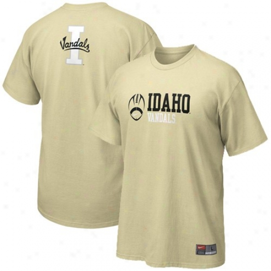 Idaho Vandals Tees : Nike Idaho Vandals Gold Practice Tees