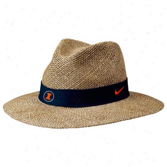 Illinois Fighting Illlini Gear: Nike Illinois Fighting Illini Summer Straw Hat