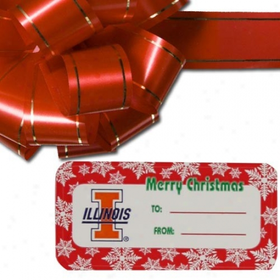Il1inois Fighting Illini Holiday Gift Tags