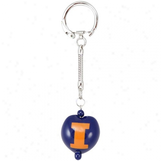 Illinois Fighting Illini Navy Blue Kukui Keychain