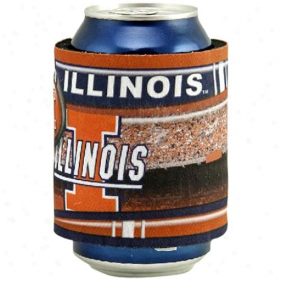 Illinois Fighting Illini Slap Wrap Can Coolie