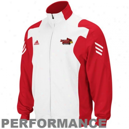 Illinois State Redbirds Jacket : Adidas Illinois State Redbirds Red Scorch Midweight Full Zip Performance Jacket