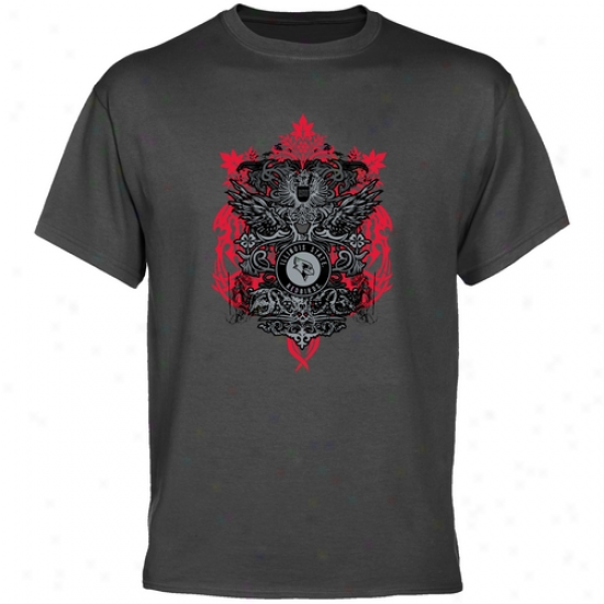 Illinois State Redbirds Tshirt : Illinois National Red6irds Charcoal Shield Of Arms Tshirt