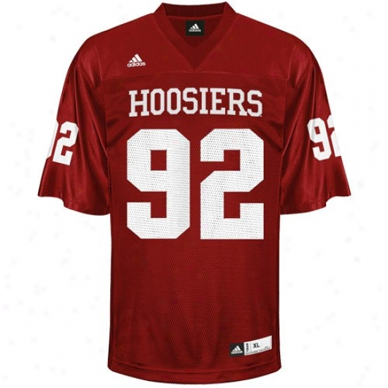 Indiana Hoosiers Jersey : Adidas Indiana Hoosiers #92 Youth Crimson Replica Football Jersey
