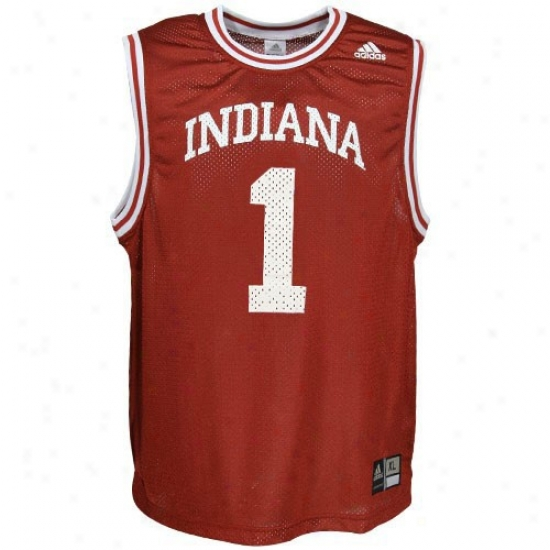 Indiana Hoosiers Jerseys : Adidas Indiana Hoosuers #1 Crimson Replica Basketball Jerseys