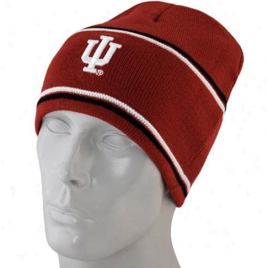 Indiana Hoosiers Merchandise: Indiana Hoosiers Crimson Bleachers Knit Beanie