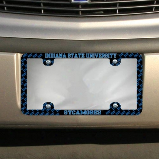 Indiana State Sycamores Thin Rim Mini-logo License Plate Frame