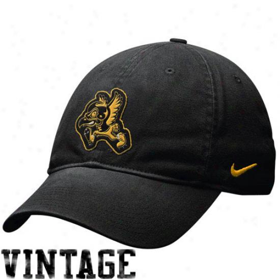 Iowa Gear: Nike Iowa Black Heritage 86 Campus Throwback Quarry Adiustable Hat