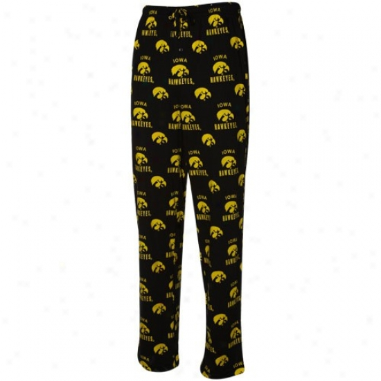 Iowa Hawkeyes Black Maverick Pajama Pants