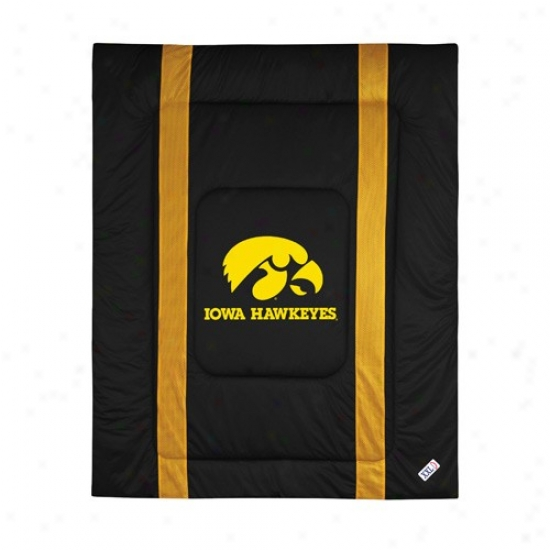 Iowa Hawkeyes Twin Size Sideline Comforter