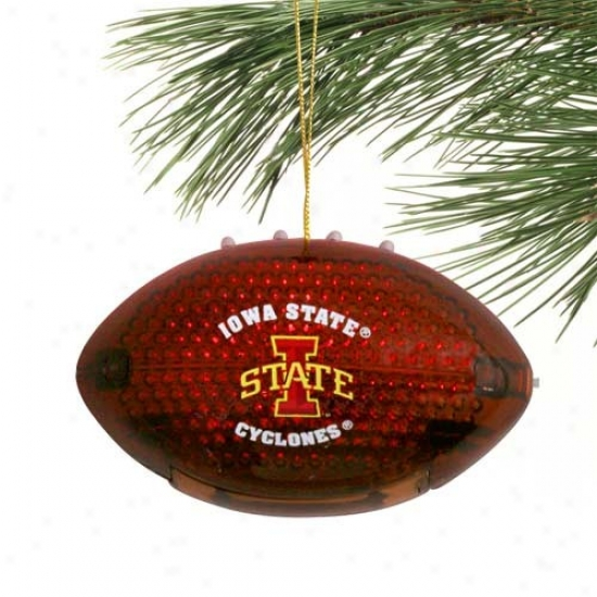 Iowa State Cyclones 4'' Acrylic Light-up Football Ornament