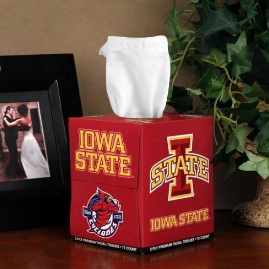 Iowa State Cyclones Box Of Sports Tissues
