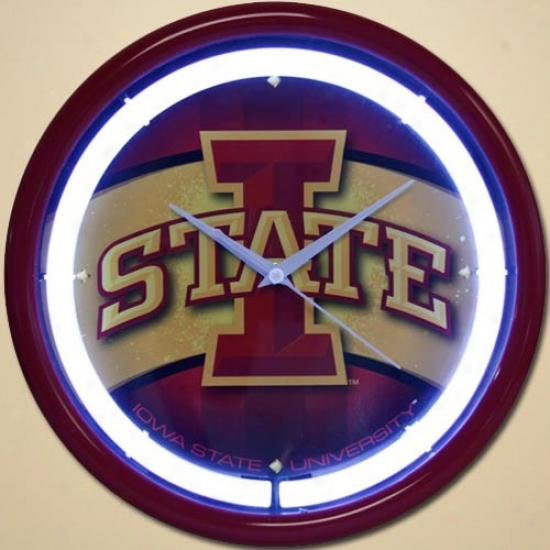 Iowa State Cyclones Plasma Wall Clock