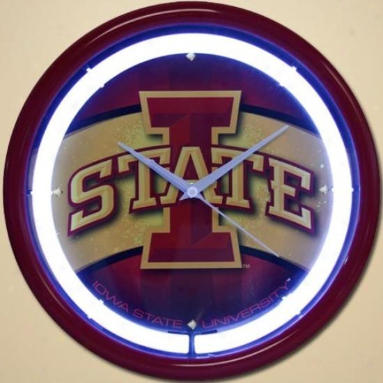 Iowa State Cyclones Plasma Wall Clock