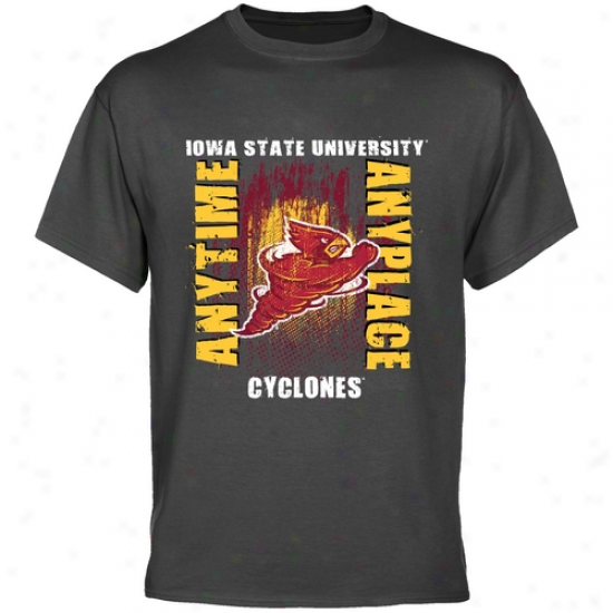 Iowa State Cyclones Shirts : Iowa State Cyclones Charcoal Anytime Annyplace Shirts