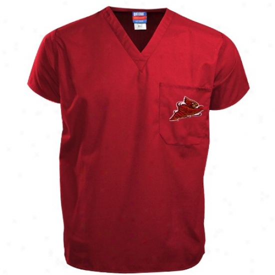 Iowa State Cyclones Tshirt : Iowa State Cyclones Red Scrub Top