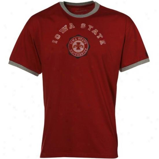 Iowa State Cyclones Tshirts : Izod Iowa State Cyclones Cardinal Ringer Tshirts