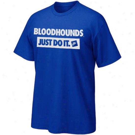 John Jay Bloodhounds T-shirt : Nike John Jay Bloodhounds Royal Azure Just Perform It T-shirt
