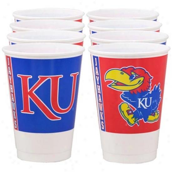 Kansas Jayhawks 8-pack Plastic Cups