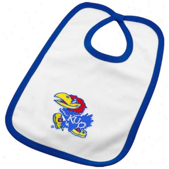 Kansas Jayhawks Infant White Team Logo Cotton Bib