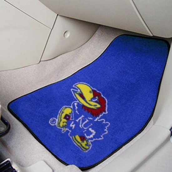 Kansas Jayhawks Royal Blue 2-piece Carpet Car Mat Set