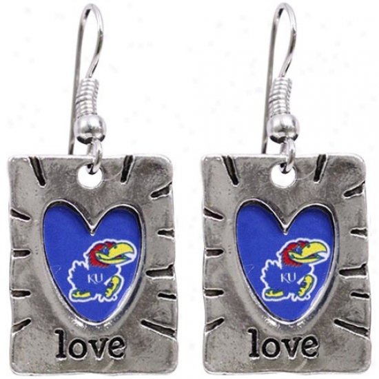 Kansas Jayhawks Team Tinge Lover Earrings